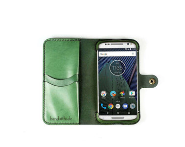Motorola Moto G5 Plus Custom Wallet Case - Phone Wallet - Hand and Hide LLC
