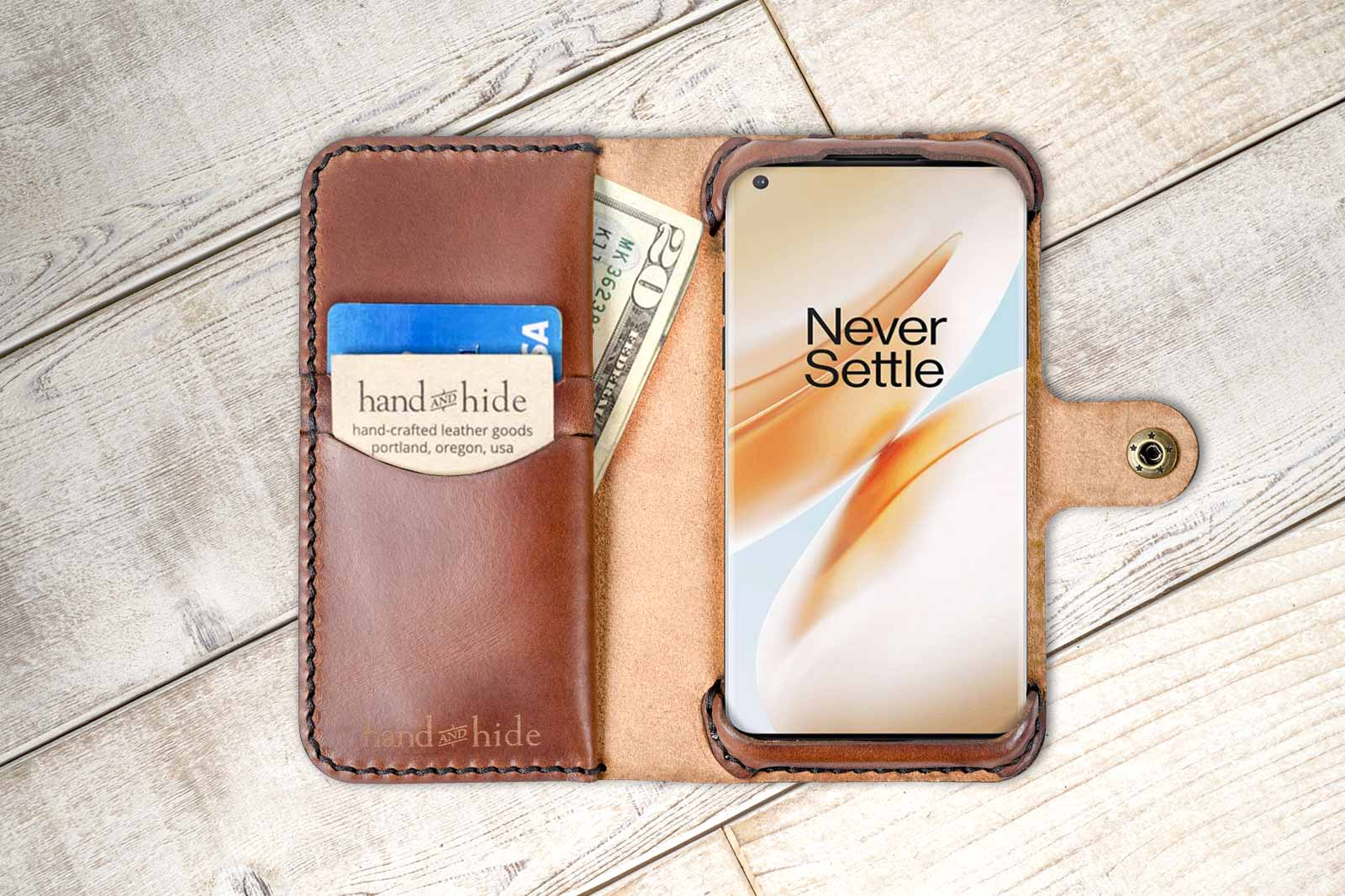 Personalized Zigzag Genuine Leather Passport Cover