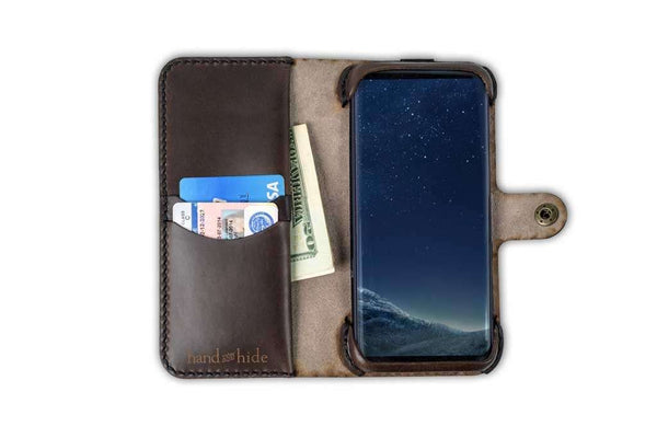 Hand and Hide leather Samsung Galaxy S8 Plus Custom Wallet Case