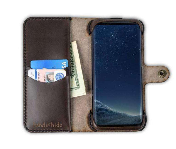 Hand and Hide leather Samsung Galaxy S8 Custom Wallet Case