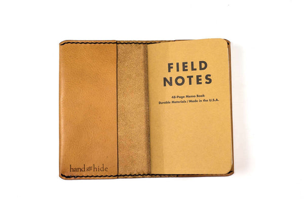 Hand and Hide Leather Journal Cover for Field Notes (original size)