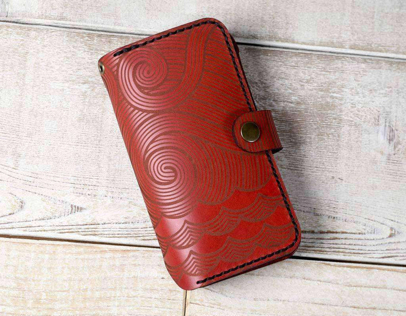 hand-and-hide-leather-phone-wallet-iphone-x-flex-nautical-engraving-on-red