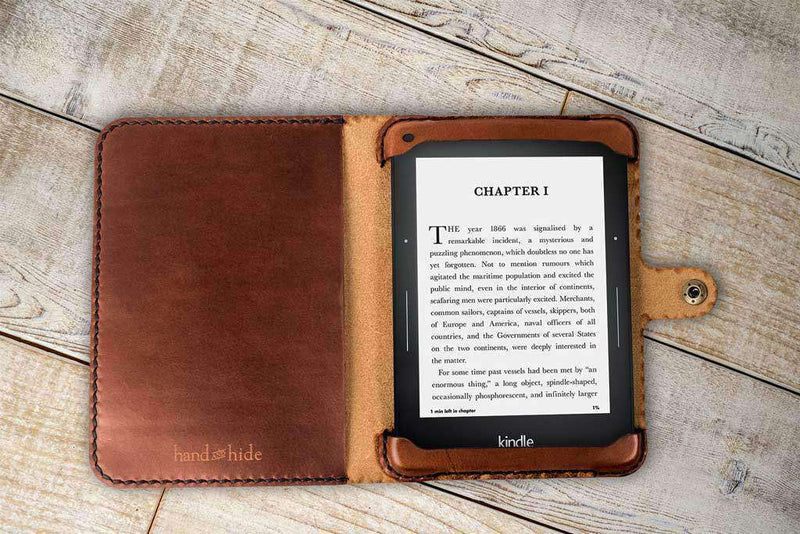 leather tablet case - hand-crafted and available in multiple colors