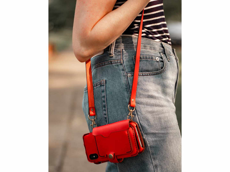 add a cross-body strap to your phone wallet case