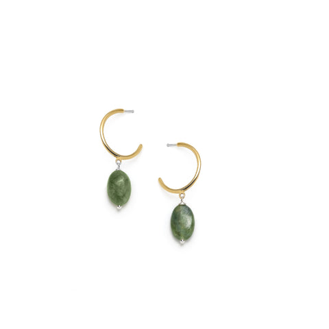 Béatrice earrings - olivine