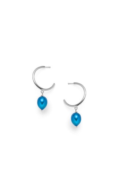 Béatrice - earrings, blue