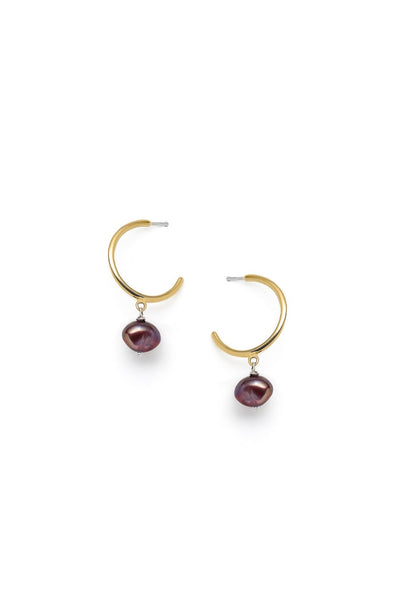 Béatrice - earrings, burgundy