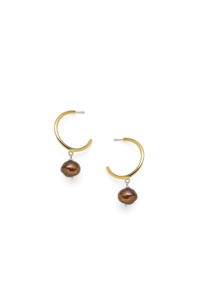 Béatrice - earrings, chestnut