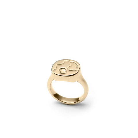 Suzanne - Abstract Signet Ring