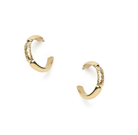 Maia earrings - brass