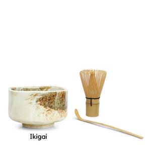 Matcha Tea Bowl Set - 3 Piece Set
