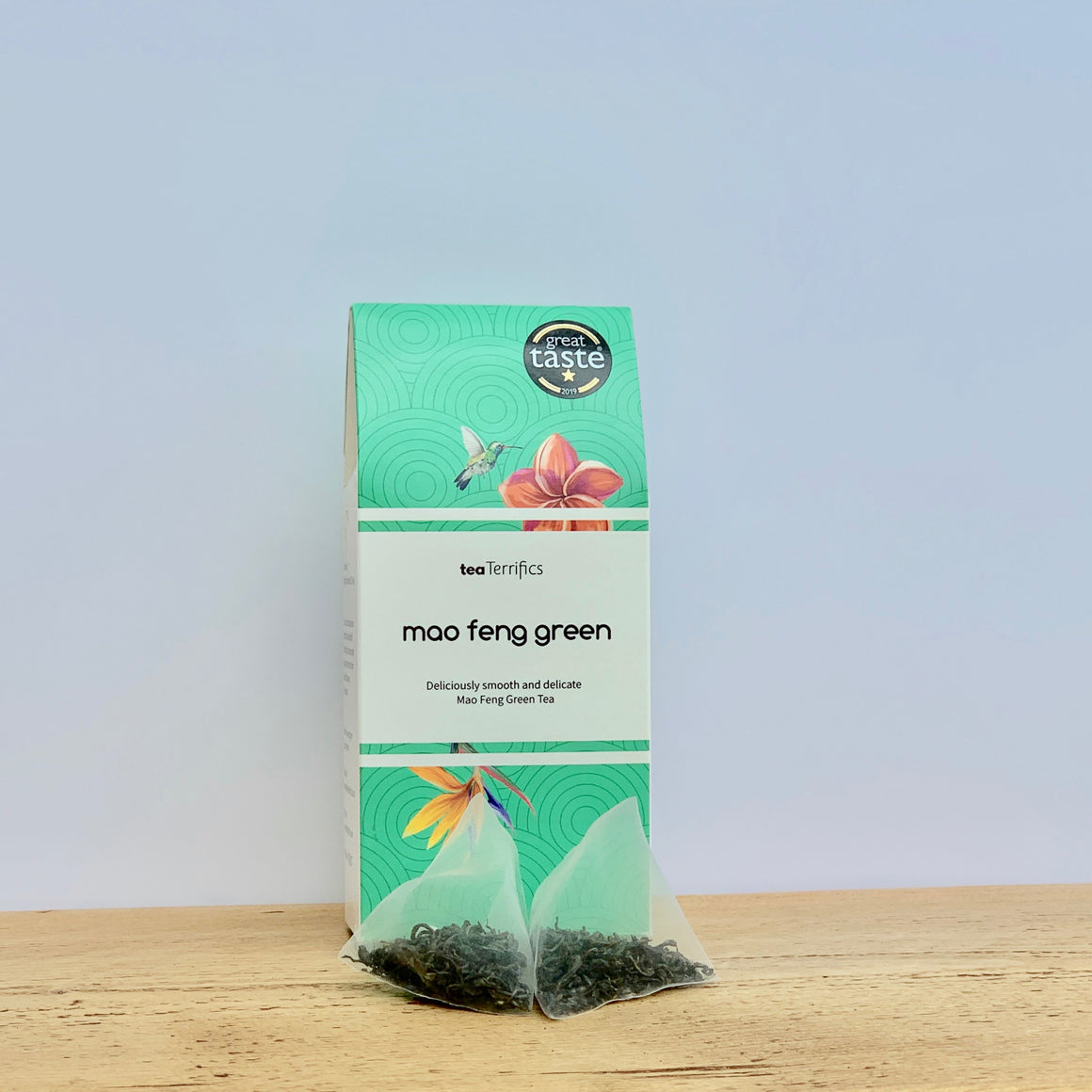 Mao Feng Green Tea - Smooth & Mellow Green Tea - 17 Biodegradable Tea Bags