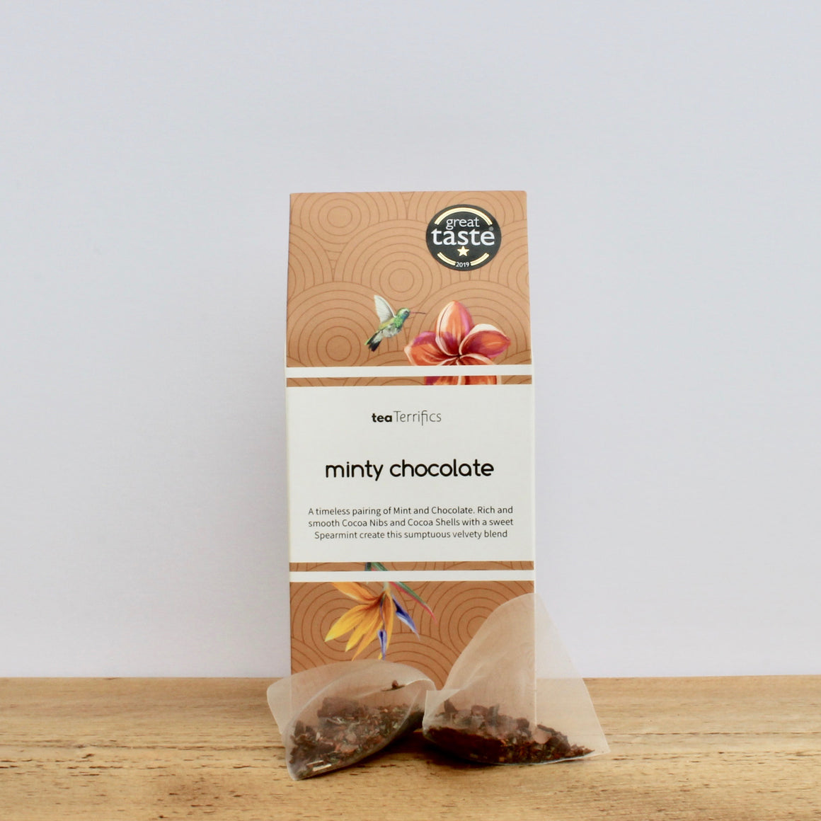 Minty Chocolate - Delicious Chocolate And Mint - 17 Biodegradable Tea Bags