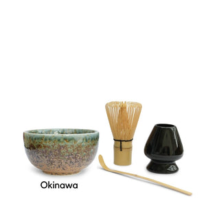 Matcha Tea Bowl Set - 4 Piece Set
