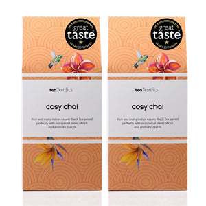 Cosy Chai - Delicious Blend of Black Tea And Aromatic Spices - 17 Plastic Free Tea Bags