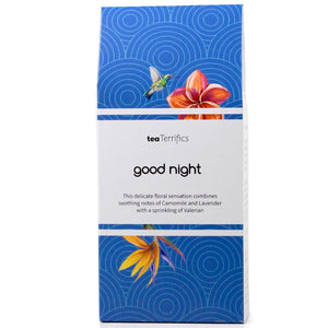 Good Night Herbal Tea - A Soothing Combination With Chamomile, Rose Petals And Lavender - 17 Biodegradable Tea Bags