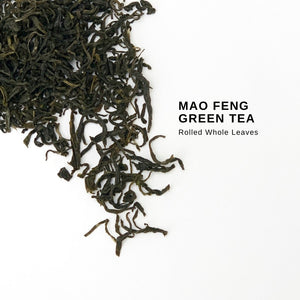 mao feng green tea bags whole leaf