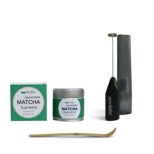 Japanese Matcha With Aerolatte Frother And Matcha Spoon