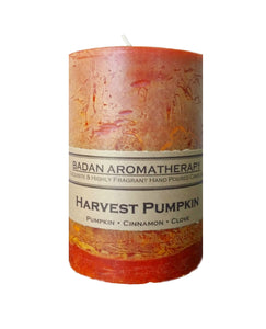 Harvest Pumpkin Pillar Candle, 3x4.5