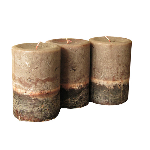 Cinnamon Bark Pillar 3 Pcs Set