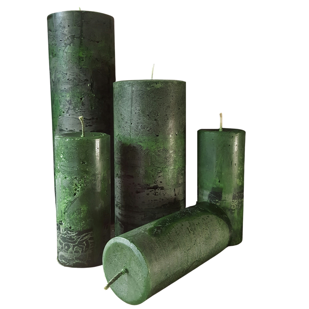 Winter Forest Pillar Candle Set