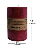 Sweet Love Pillar Candle 3x4.5