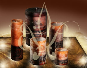 "Sandalwood Fragrant Handmade Aromatherapy Pillar Candle 3x4.5"" Calming, Seductive, Meditative"