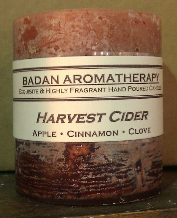 Apple Cinnamon & Clove Handmade Pillar Candle 3x3.5