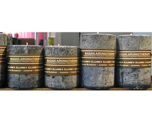 ILLUME Candle: Fragrant Dark Blue Amber Lotus Orange Blossom &  Ylang Ylang Pillar Candle 3x4.5
