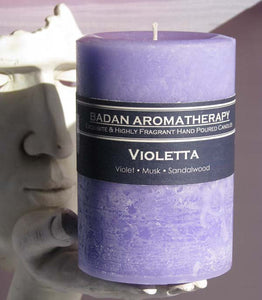 Purple Candle: VIOLET Pillar Candle 3x4.5
