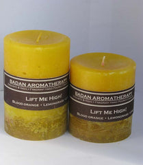 Citrus Lemongrass, Verbena & Blood Orange Essential Oil Candle Fragrant Uplifting Medium 3x4.5 Yellow Candle