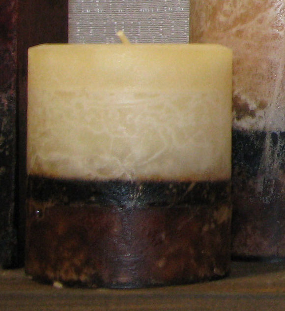 Belgian Chocolate & Sandalwood Pillar Candle 3x3.5