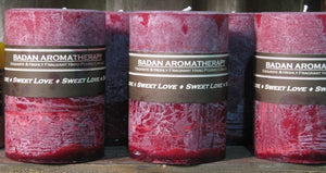 Candle: Fragrant Dark Red Pomegranate Akee Fruit & Musk Pillar Candle 3x4.5 Valentines Gift