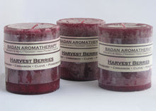 Candle: Fragrant Dark Red Cranberry Pomegranate Cinnamon & Clove Pillar Candle 3x3.5