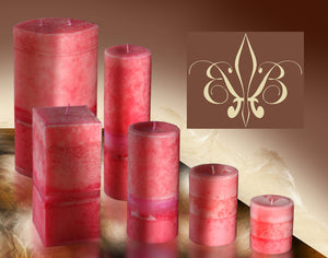 Fragrant Pink Tuberose Pillar Candle 3x6.5