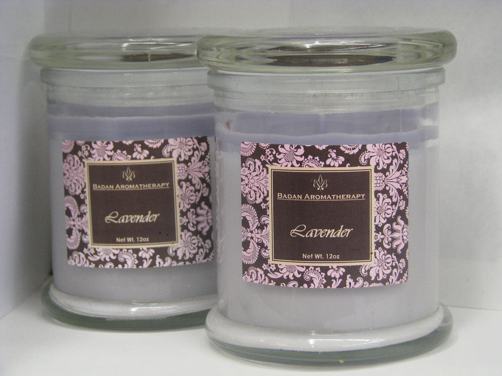 Purple Lavender Essential Oil Soy Container Candle