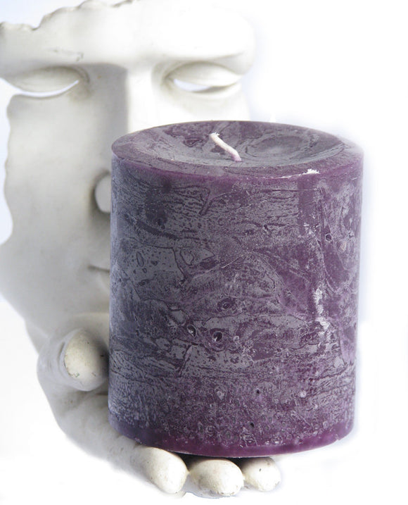 Candle: Fragrant Purple Patchouli Pillar Candle 3x3.5