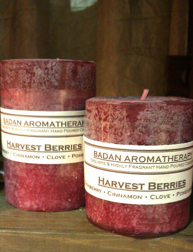 Harvest Berries Pillar Candle 3x6.5
