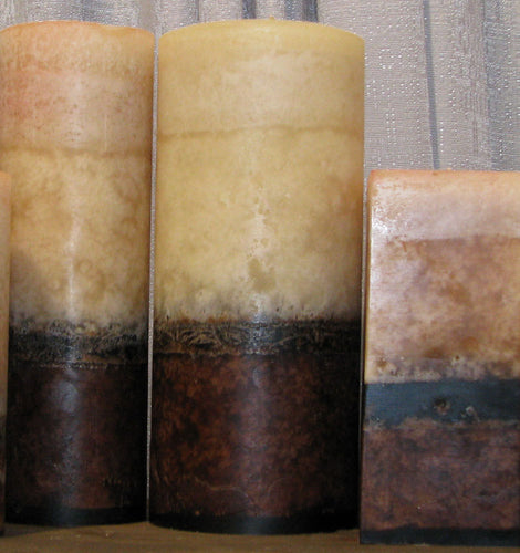 Handmade Belgian Chocolate & Sandalwood Aromatherapy Large 4x9.5 Pillar Wax Candle