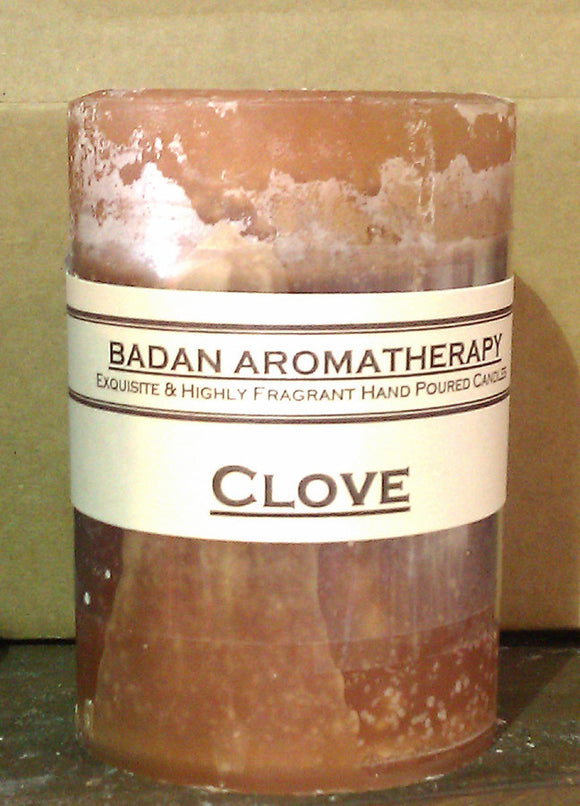 Candle: Fragrant CLOVE Pillar Candle 3x4.5