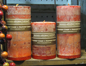 Harvest Cider Pillar Candle Collection