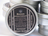 SANDALWOOD VANILLA Body Butter Ghee Natural & Organic - Intensive Moisturizer for Dry Skin