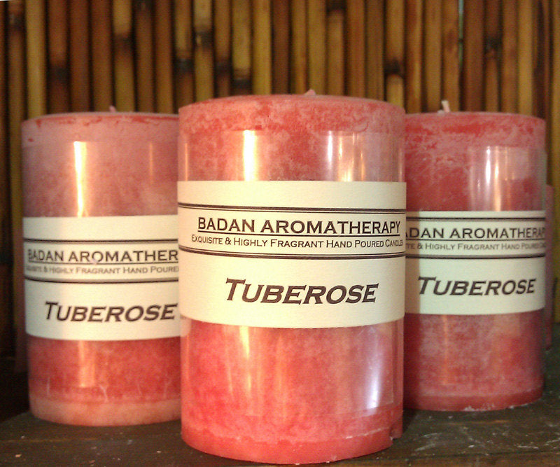 "Badan Body Tuberose Scented Pillar Candle 3""x4.5"""