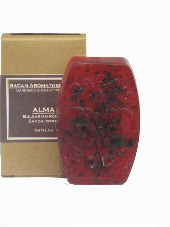 Bulgarian Rose & Sandalwood Soap: Handmade Shea Butter Soap, Added Glycerin Rich Soap