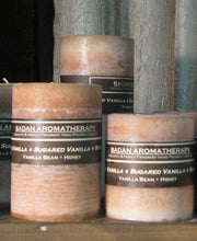 Sugared Vanilla Fragrant Pillar Candle Set - BadanBody