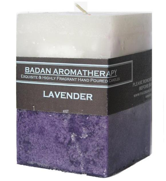 Pure Lavender Scented Square Pillar Candle 3