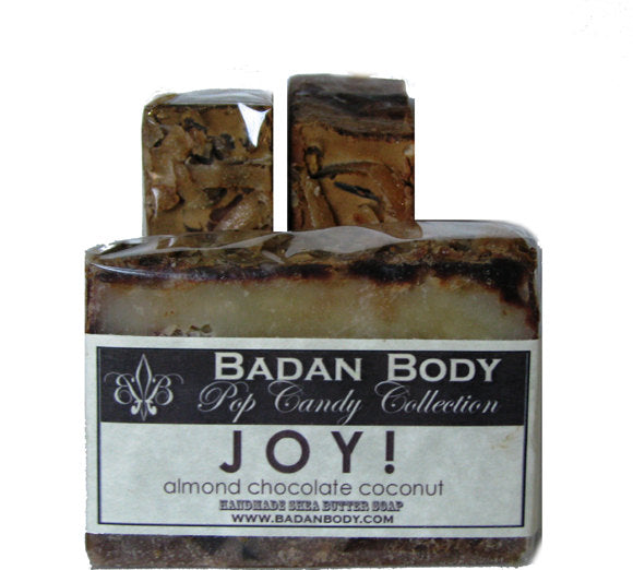 JOY Chocolate Coconut Almond Soap - Natural Handmade Soap, Shea Butter Soap, Moisturizing Soap Limited Edition