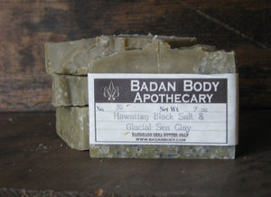Organic Black Salt & Glacial Marine Clay Shea Butter Soap -Detoxifying Natural Handmade Moisturizing Cleanser