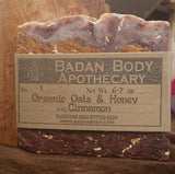 Badan Organic Cinnamon Oats & Honey Shea Butter Soap - All Natural Soap Handmade Soap