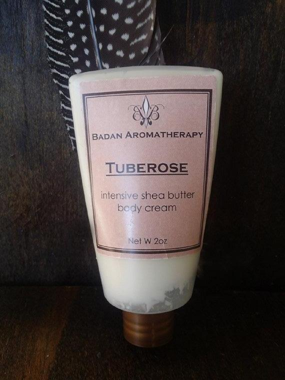 Tuberose Intensive Shea Butter Body Cream, 2oz Travel Size Moisturizing Dry Skin Care